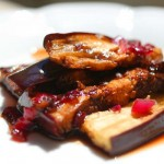 eggplant in pomegranate balsamic vinegar