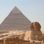 The great Giza pyramids and the sphinx