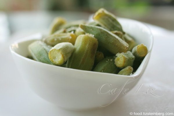 A bowl of okra. Simple.