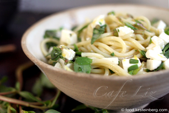 purslane-pasta